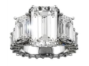 Avianne & Co. Past, Present and Future Emerald Cut Diamond Engagement Ring