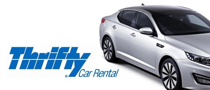 Thrifty rent a Car