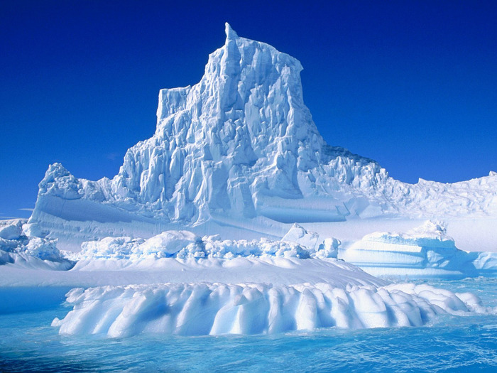 The glaciers of Antarctica